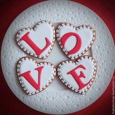"""Кулинарные сувениры ручной работы. Ярмарка Мастеров - ручная работа """"Love"""" набор пряников - козуль. Handmade."""
