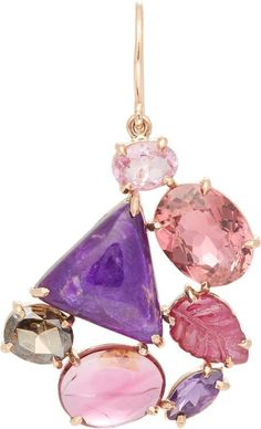 Sharon Khazzam Multi Gemstone Norma Earring-Colorless