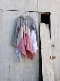 hoodie sweatshirt / boho lagenlook romantic dress / by CreoleSha, $92.00