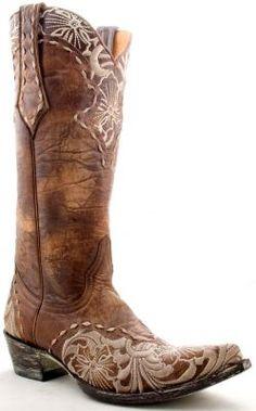 Old Gringo Erin Cowgirl Boots Bone, Brass