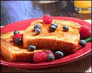 HG''s Cinnamonlicious French Toast!: optional: count for SF pancake syrup or SF jelly if using, nothing to count for FF Reddi-Wip in small quantity used