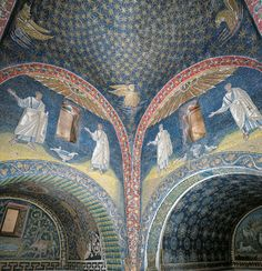 Mausoleum of Galla Placidia - Ravenna, Italy, first half of the V century. #mosaic