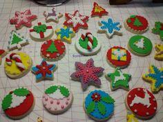 Fondant Christmas vanilla cookies!!!
