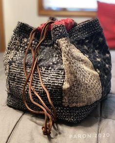 Japanese Textiles, Japanese Fabric, Fabric Bags, Fabric Scraps, Shibori, Japanese Bag, Japanese Rice, Boro Stitching, Ethnic Bag