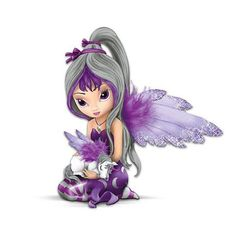 The Hamilton Collection Jasmine Becket-Griffith Fairy and Unicorn Figurine: Midnight Dream Baby Fairy, Love Fairy, Unicorn And Fairies, Kobold, Fairy Pictures, Snow Fairy, Fairy Figurines, Beautiful Fairies, Disney Marvel