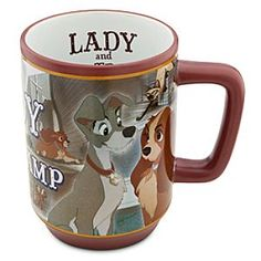 Disney Lady and the Tramp Mug | Disney StoreLady and the Tramp Mug - Recover from your lovely Bella Notte with a bright morning sip from our Lady and the Tramp Movie Moments mug, illustrated with scenes directly from Walt Disney's animated canine classic.