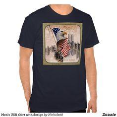 Men's USA shirt with design