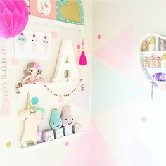 """Handmade Heart  on Instagram: """"So many more awesome small shops in this space by @missariarose, featuring our Pastel """"Lilly"""" Unicorn-and how awesome is that wall?!  Tap for shops! #handmade #shopsmall #supporthandmade #interior #kidsinterior #pastel #unicorn #marchmeetthemaker"""""""