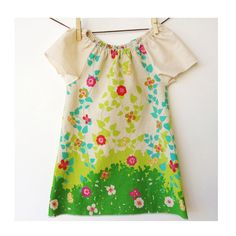 Botanical Peasant Style Dress   Made with Quality by bittybambu, $45.00