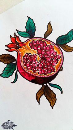 Tagged with tattoo, art, tattoos, drawing, sketch; Shared by Pomegranate Pomegranate Tattoo, Pomegranate Art, Pomegranate Drawing, Fruit Tattoo, Tattoo Designs, Tattoo Feminina, Arte Floral, Tattoo Sketches, Skin Art