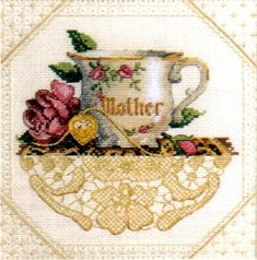 """Mother"" cross stitch art by Sandy Clough"
