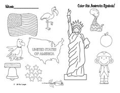 With Independence Day right around the corner, it's time to start looking for fun patriotic freebies for your kiddos! We stumbled across this fun coloring activity over at Little Miss Kindergarten...