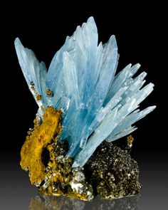 "2.7"" Spectacular Spray of Gemmy Terminated BLUE BARITE Crystals Morocco for sale"