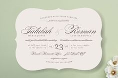 Invite design works for english and spanish! Love Language Wedding Invitations by Pistols at minted.com