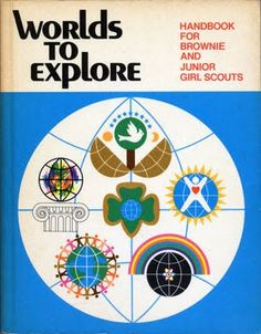 Worlds to Explore - Handbook for Brownies and Jr Girl Scouts.