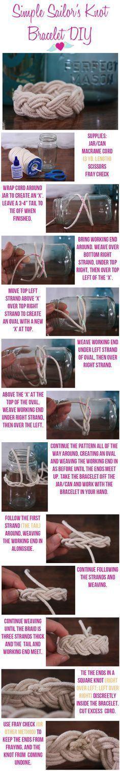 DIY Sailors Knot Bracelet diy crafts craft ideas easy crafts  crafty easy diy diy jewelry diy bracelet craft bracelet jewelry diy