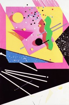 April Greiman, Poster for Warner Records, 1982 #rhythm #diagonal