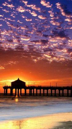 Sunset, Manhattan Beach, Los Angeles, California, United States,