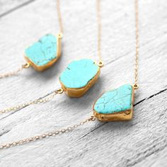 TURQUOISE 14k gold filled necklace with turquoise