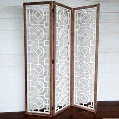 Geometric 3 Panel Screen