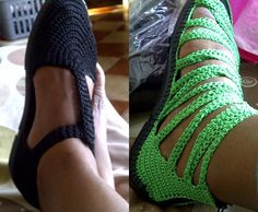 Crocheted Shoes made by Mrs. Catherine Boshego