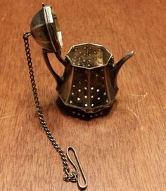 *Vintage Solid Sterling Silver Tea Pot Cute Tea Strainer Infuser*                                                                                                                                                                                 More