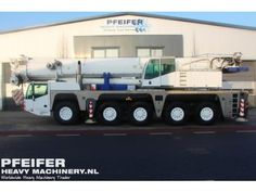 Used telescopic crane available at Pfeifer Heavy Machinery. Item Number PHM-Id 06611, Manufacturer TEREX-DEMAG, Model AC200/1, Year of construction 2008, Kilometers 90824, Hours carrier 3324, Hours superstructure 5098, Loading (lifting) capacity (kg) 200000, Boom length maximum (m) 67, Fuel Diesel.