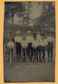 19th Century Baseball Team Tintype The Boys of Summer Must See | eBay