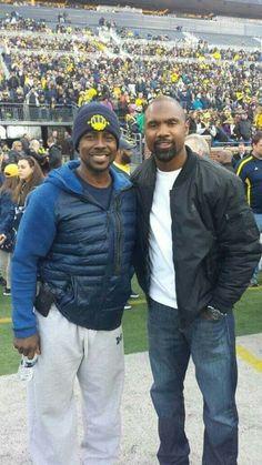 Legendary michigan football alumni, Desmond Howard and Charles Woodson