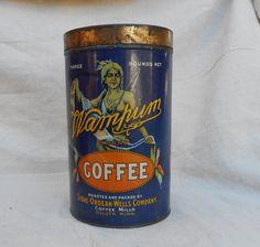 Wampum Coffee Tin Circa 1900 | | Cayuse Western Americana