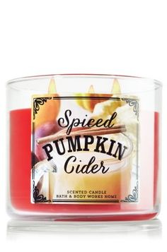 Candle Spiced Pumpkin Cider from Bath & Body Works. Saved to candles. Shop more products from Bath & Body Works on Wanelo. Bath Candles, 3 Wick Candles, Home Candles, Scented Candles, Candle Jars, Candle Holders, Pumpkin Spice, Spiced Pumpkin, Fall Scents