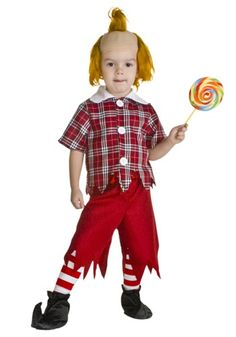 He can't wait to get to Oz! This Toddler Red Munchkin Costume is an adorable costume for boys to wear.