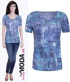Skvelo kombinovateľné dámske tričko s krátkym rukávom - trendymoda.sk