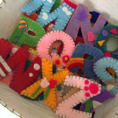 scatola alfabeto, gioco per bimbi, alfabet box, play box, felt, pannolenci, handmade