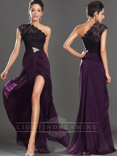 One Shoulder Long Prom Dress 150525tb23