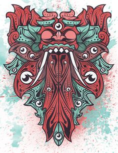 Graphic Illustrations by Made Rindu, via Behance