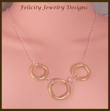 """""""Eternity"""" - Bronze and Sterling Silver Necklace"""