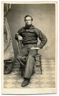 A Union Petty Officer Next Us, War Image, American Veterans, America Civil War, Civil War Photos, Photo Reference, History Books, Us Navy, American History