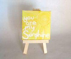 You Are My Sunshine acrylic mini painting on by ModernSimpleBaby, $13.50