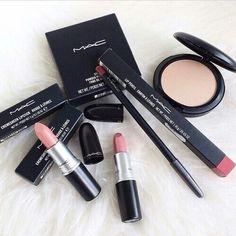 Instagram photo taken by makeup - INK361 ~ MAC lipsticks, lip liner & powder