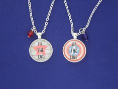Bucky Steve Necklace Set Til the End of the Line Quote Cabochon Pendant Stucky BFF Steve Rogers Buck Steve Rogers Bucky Barnes, Bucky And Steve, Marvel Fan, Marvel Avengers, Bucky Barnes Captain America, Fandom Jewelry, Marvel Clothes, Friendship Necklaces, Engagement Ring Sizes