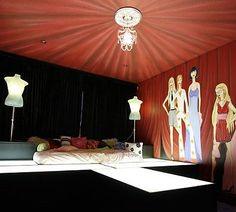 Runway set up on pinterest runway project runway and for Fashionista bedroom ideas