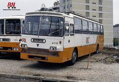 Portugal RN UTIC (UTIC AEC in background) Buses, Vintage Photos, Volkswagen, Portugal, Trucks, Viajes, Boats, Old Photos