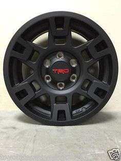 TOYOTA TACOMA 2005-2016 (4) 17' MATTE BLACK ALLOY WHEEL OEM PTR20-35110-BK