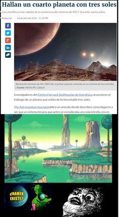 Namek con 3 soles... ¡Existe!        Gracias a http://www.cuantocabron.com/   Si quieres leer la noticia completa visita: http://www.estoy-aburrido.com/namek-con-3-soles-existe/