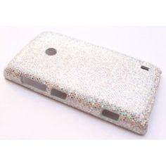 Lumia 520 hopea glitter suojakuori.
