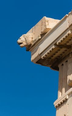 15 Rarely Seen Details Of The Parthenon,North edge. Head of Lion. Image © Wikipedia User: Jebulon. Licensed Under Public Domain