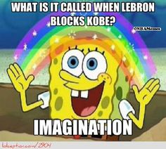 LeBron James Blocking Kobe Bryant! - http://weheartokcthunder.com/nba-funny-meme/lebron-james-blocking-kobe-bryant