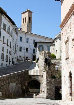 Spoleto's windy streets, Umbria