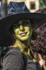 Green witch #1 - LUCCA C&G 2015 (tycampbe) Tags: ifttt 500px portrait girl street mask italy beautiful smiling smile art green comic witch italia cosplay anime costume manga tuscany lu comics lucca cosplayer smart phone